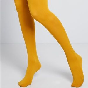 Urban Outfitters OU Basic Sheer Tight Yellow/Maize
